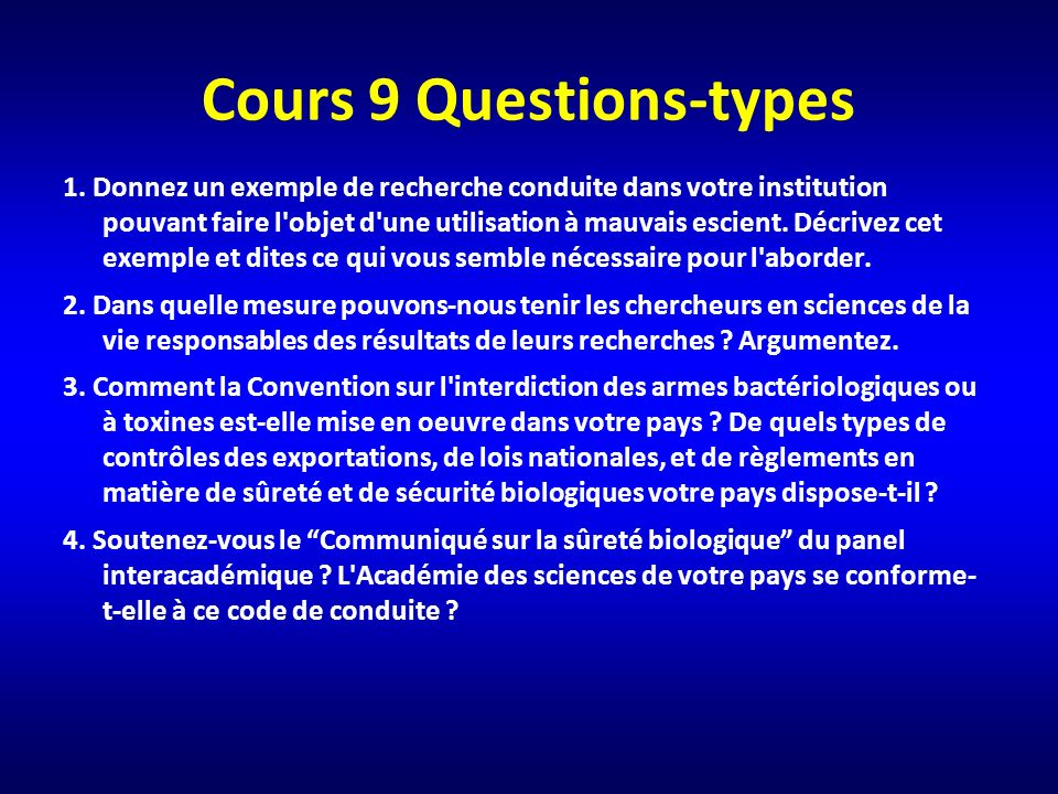 Cours 9 Questions-types 1.