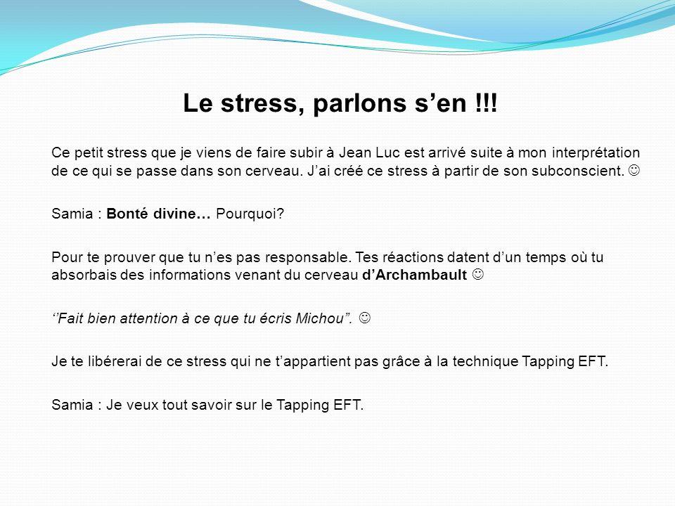 Le stress, parlons sen !!.