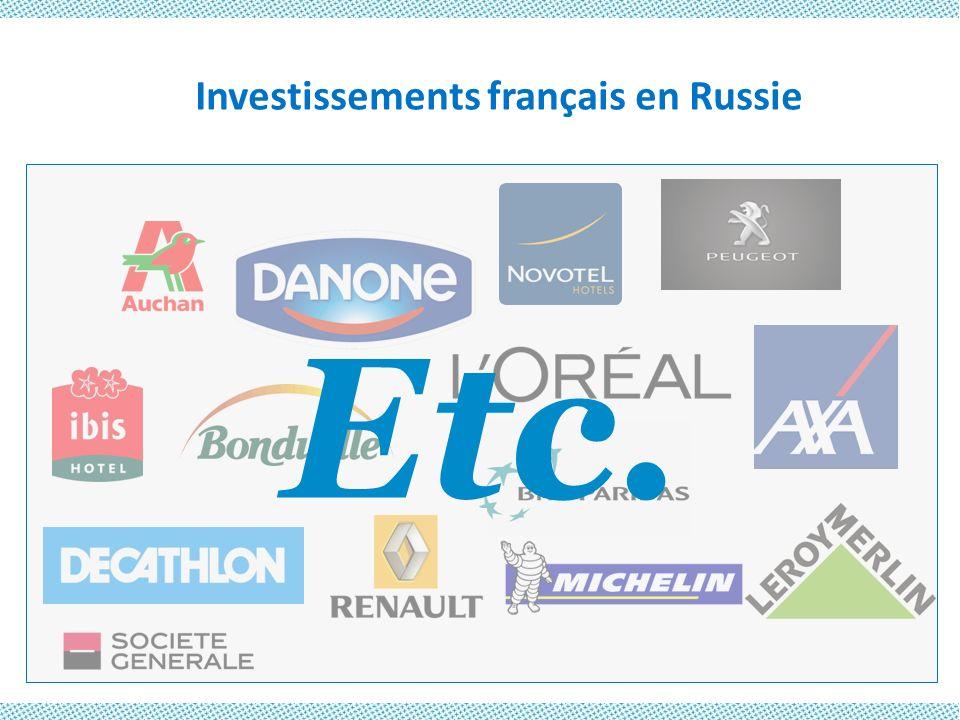 Investissements français en Russie Etc.