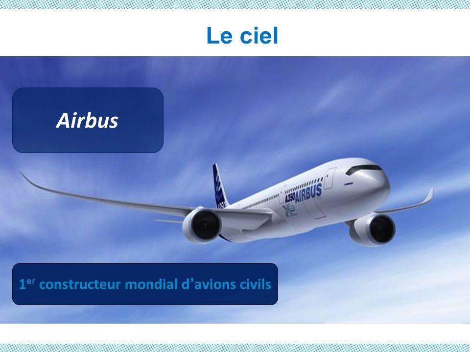 Le ciel Airbus 1 er constructeur mondial davions civils