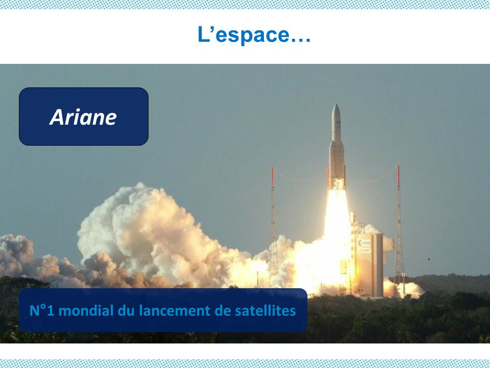 Lespace… Ariane N°1 mondial du lancement de satellites