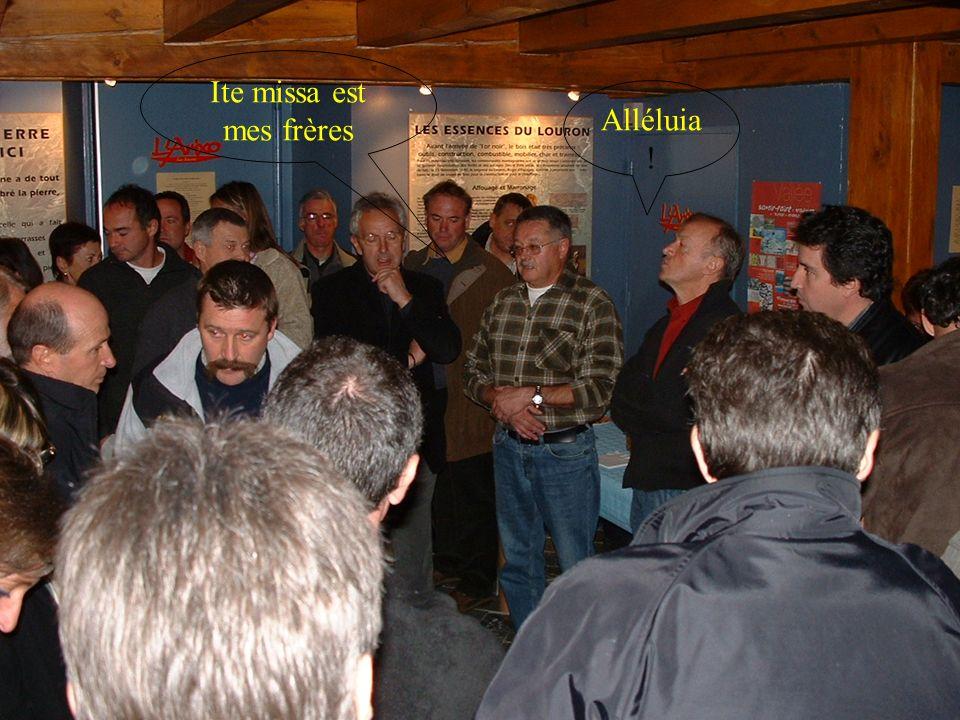 Ite missa est mes frères Alléluia !