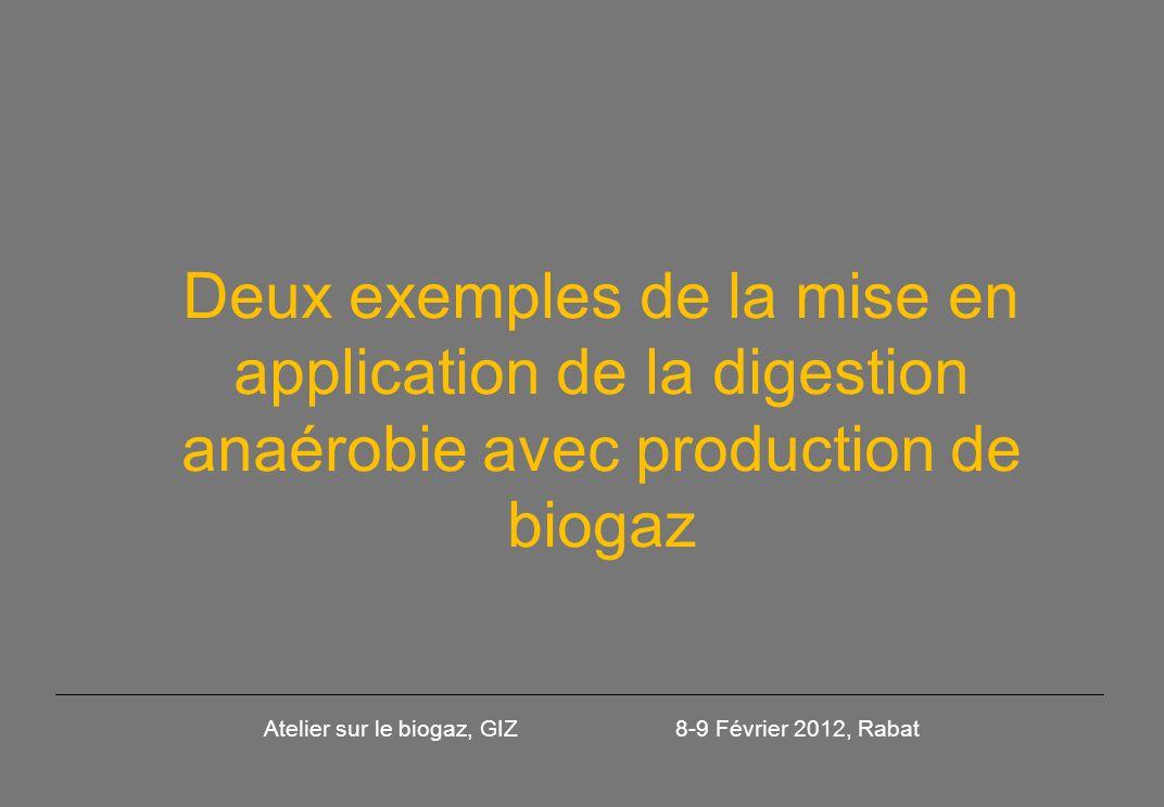 Sur le plan de la valorisation du biogaz: Dans le cas particulier de la STEP dEl Attaouia le biogaz permettra: En cogénération la couverture des besoins en énergie de pompage (puissance disponible 20 kW).