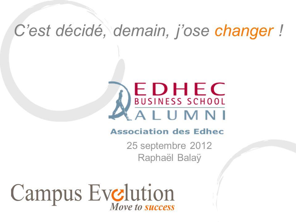 Cest décidé, demain, jose changer ! 25 septembre 2012 Raphaël Balaÿ