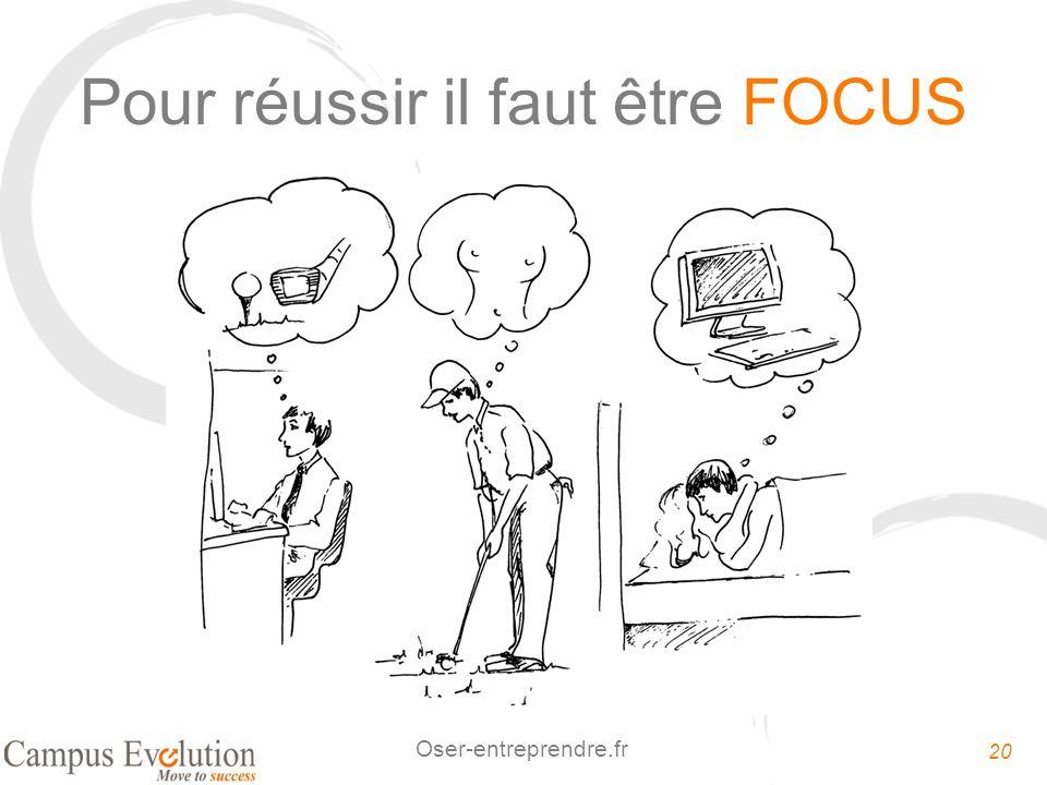 20 Oser-entreprendre.fr Pour réussir il faut être FOCUS
