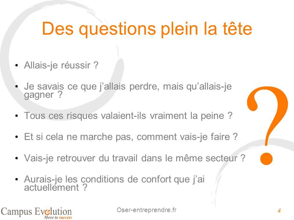 5 Oser-entreprendre.fr Comment répondre à ces questions ? PAS de réponses PAS DACTIONS