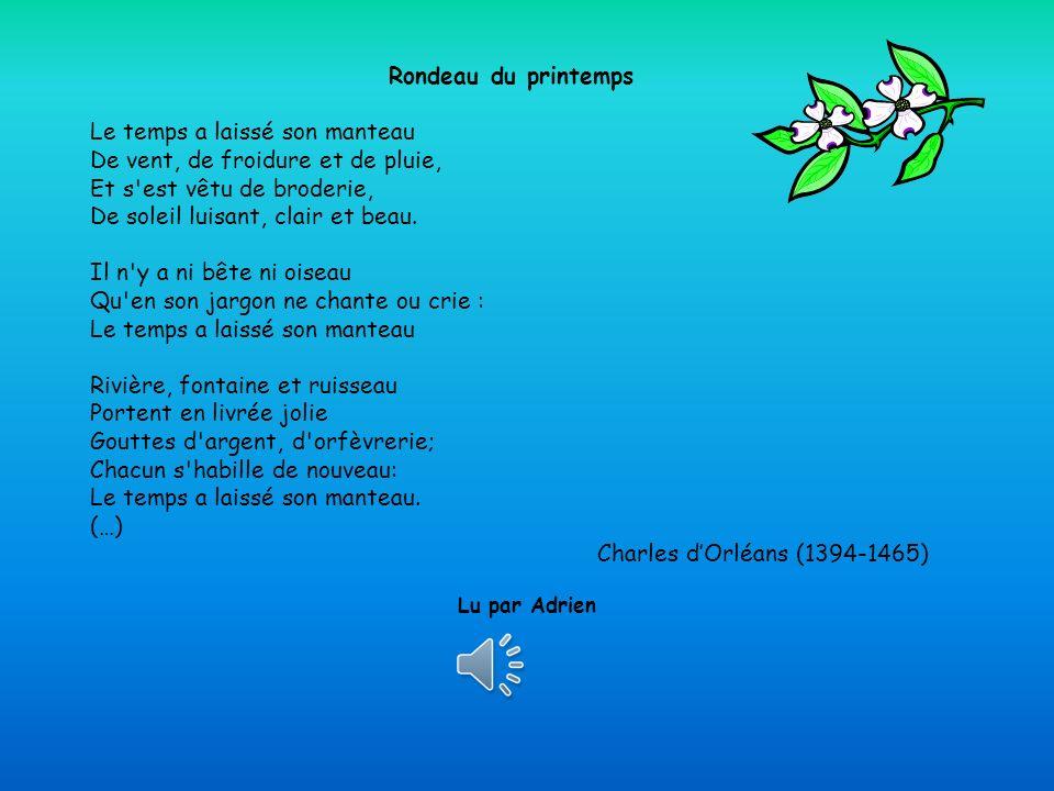 Printemps des poètes 2013 Les voix de la poésie Quelques voix… de 5èmeA