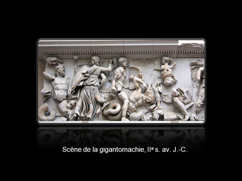 Scène de la gigantomachie, II e s. av. J.-C.