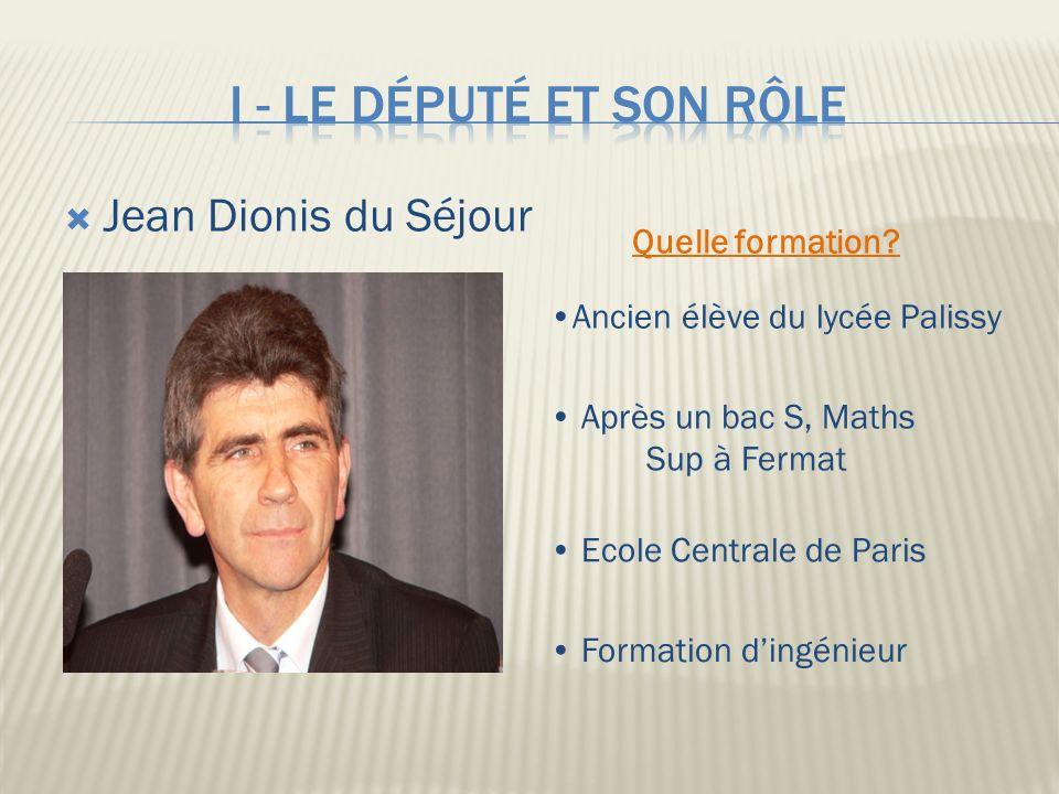 Jean Dionis du Séjour Ancien élève du lycée Palissy Après un bac S, Maths Sup à Fermat Ecole Centrale de Paris Formation dingénieur Quelle formation