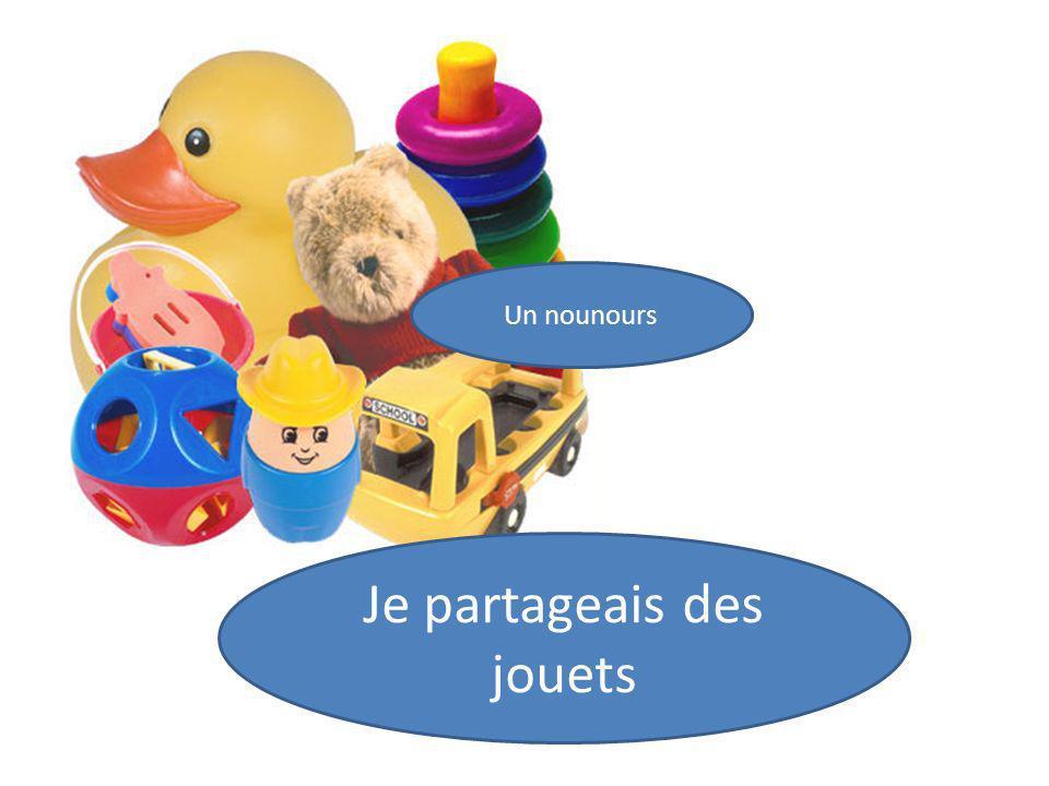 Un nounours Je partageais des jouets