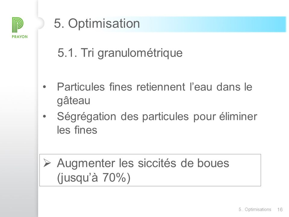 16 5.Optimisation 5.1.