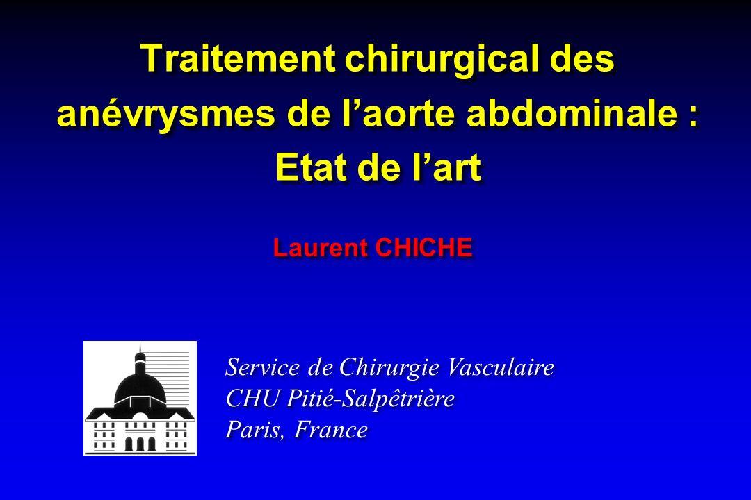 Service de Chirurgie Vasculaire CHU Pitié-Salpêtrière Paris, France Service de Chirurgie Vasculaire CHU Pitié-Salpêtrière Paris, France Traitement chi