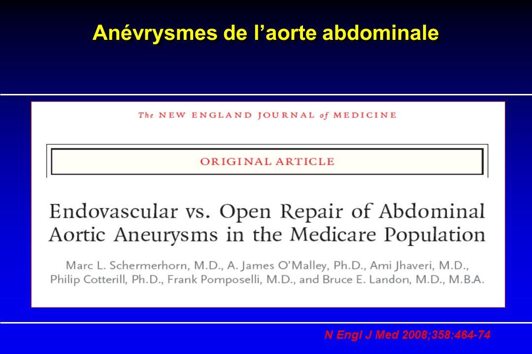 Anévrysmes de laorte abdominale N Engl J Med 2008;358:464-74