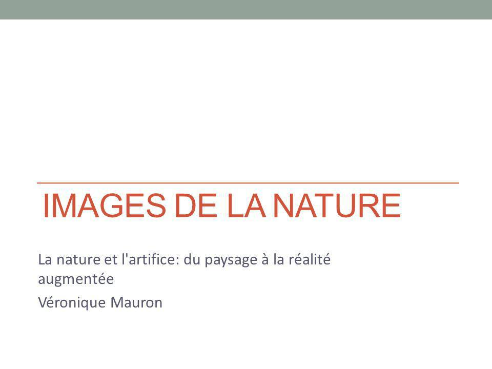 IMAGES DE LA NATURE La nature et l'artifice: du paysage à la réalité augmentée Véronique Mauron