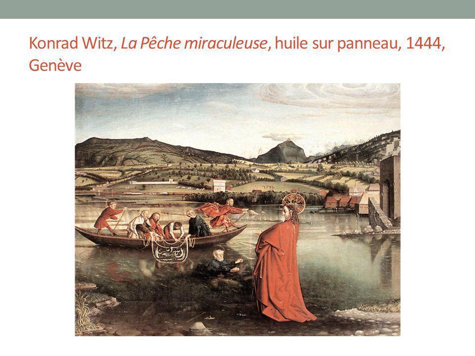Konrad Witz, La Pêche miraculeuse, huile sur panneau, 1444, Genève