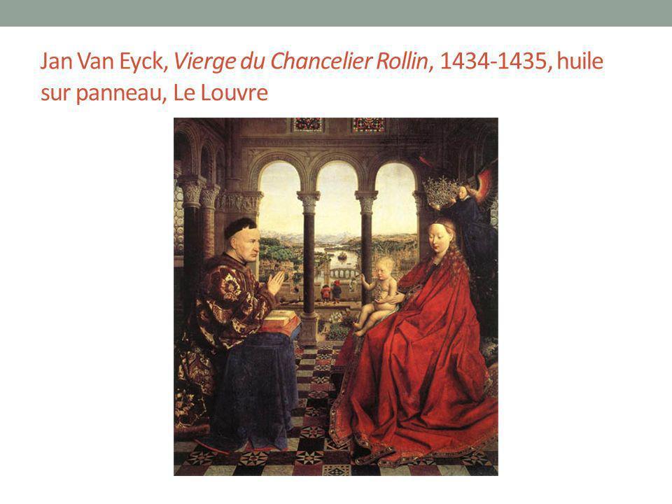 Jan Van Eyck, Vierge du Chancelier Rollin, 1434-1435, huile sur panneau, Le Louvre