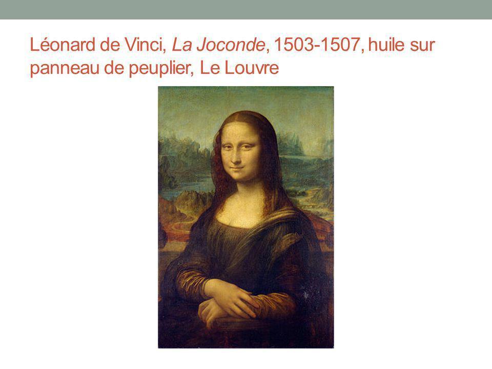 Léonard de Vinci, La Joconde, 1503-1507, huile sur panneau de peuplier, Le Louvre