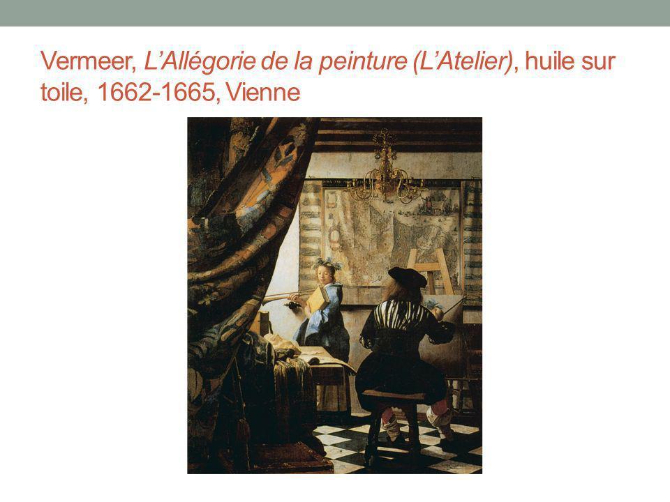 Vermeer, LAllégorie de la peinture (LAtelier), huile sur toile, 1662-1665, Vienne