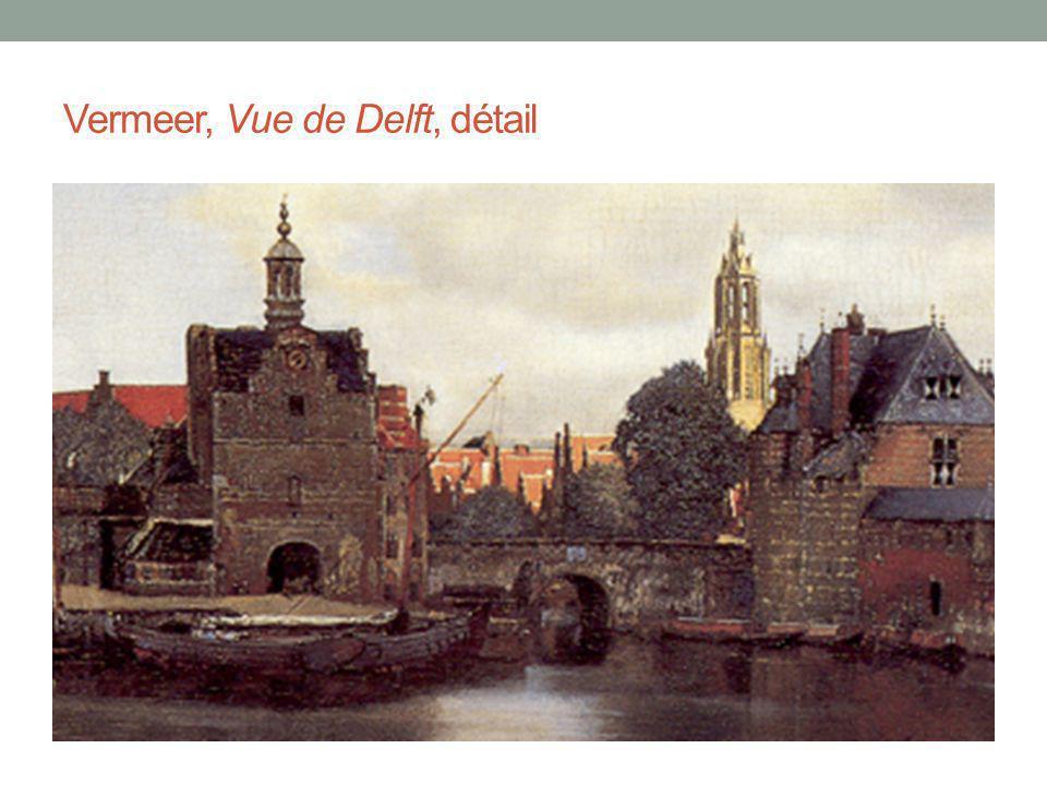 Vermeer, Vue de Delft, détail