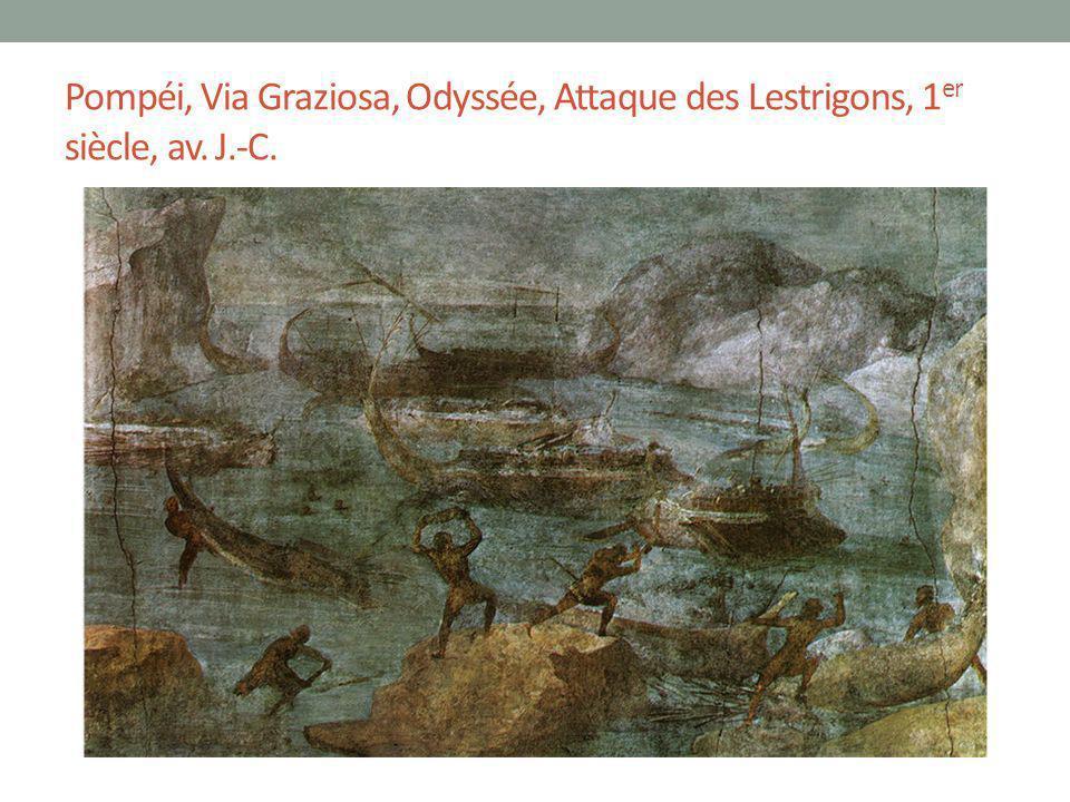 Pompéi, Via Graziosa, Odyssée, Attaque des Lestrigons, 1 er siècle, av. J.-C.