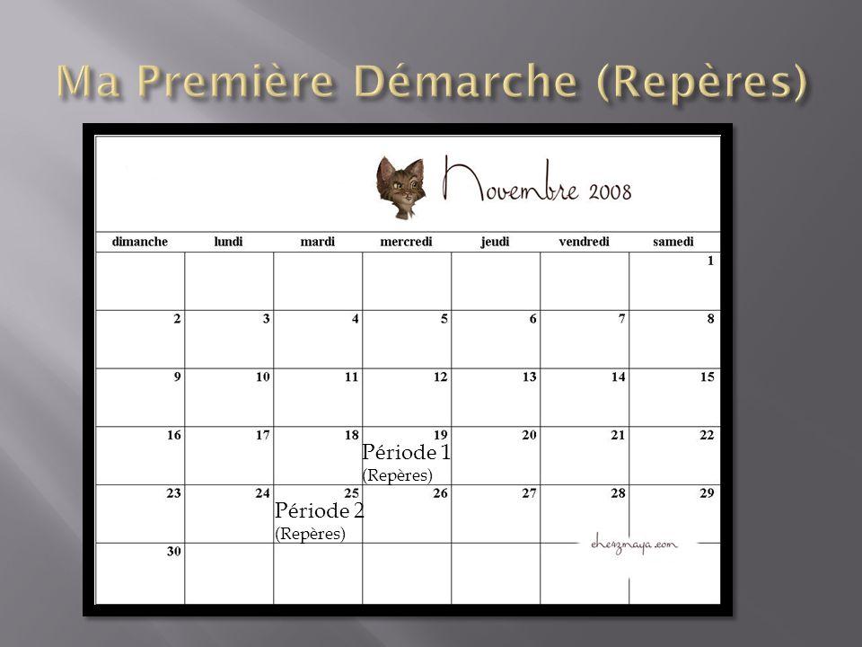 Deuxième Période, 25 Novembre 08 Ce que jai fais: Commencé le document expliquant les informations sur ma profession, Continué la feuille de planification globale et la feuille de suivi.