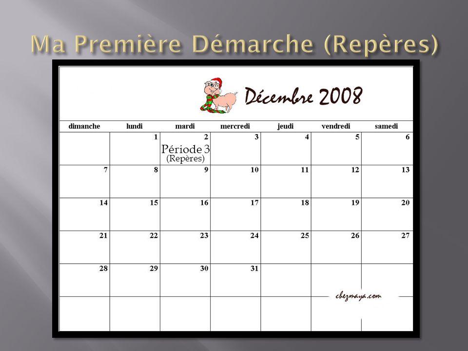 Troisième Période, 2 Décembre 08 Ce que jai fais: Continué le documents fait sur mon métier, Commencé la feuille de Réflexion, Continué la feuille de planification globale et la feuille de suivi.