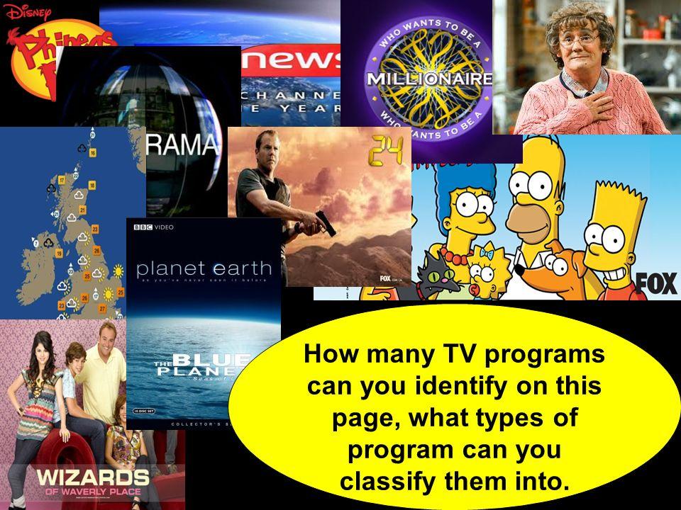 Quest-ce que tu aimes regarder à la télé?