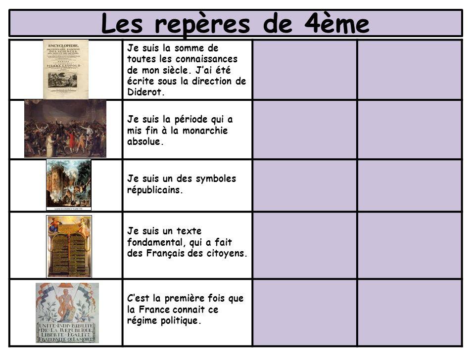 Les repères de 4ème Pendant ces deux régimes politiques, Napoléon a gouverné la France.