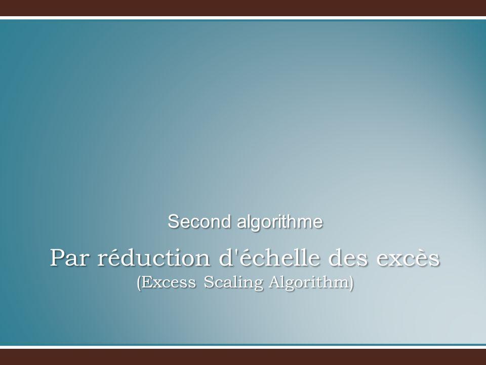 Par réduction d échelle des excès (Excess Scaling Algorithm) Second algorithme