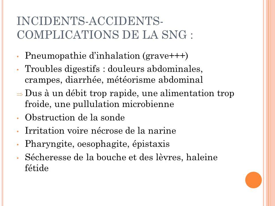 COMPLICATIONS DE LA NE : Syndrome de Renutrition : - Déficit aigu en phosphore (+/- K,Mg,B1) - Complications :.