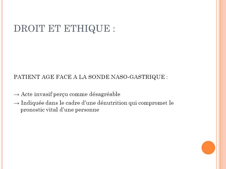 LIBERTE DU CHOIX : ACCEPTER / REFUSER LA SNG 1.