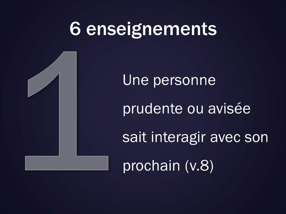 6 enseignements Une personne infidèle dans les petites choses, lest aussi dans les grandes (v.10)
