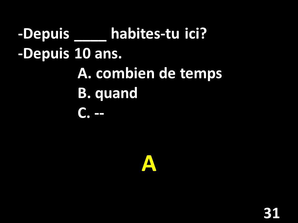 Accordez-les (match) françaisanglais _____ 1.avoir faim/soifA.