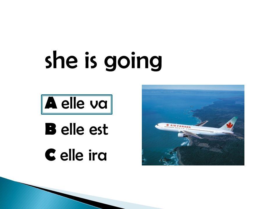 she is going A elle va B elle est C elle ira