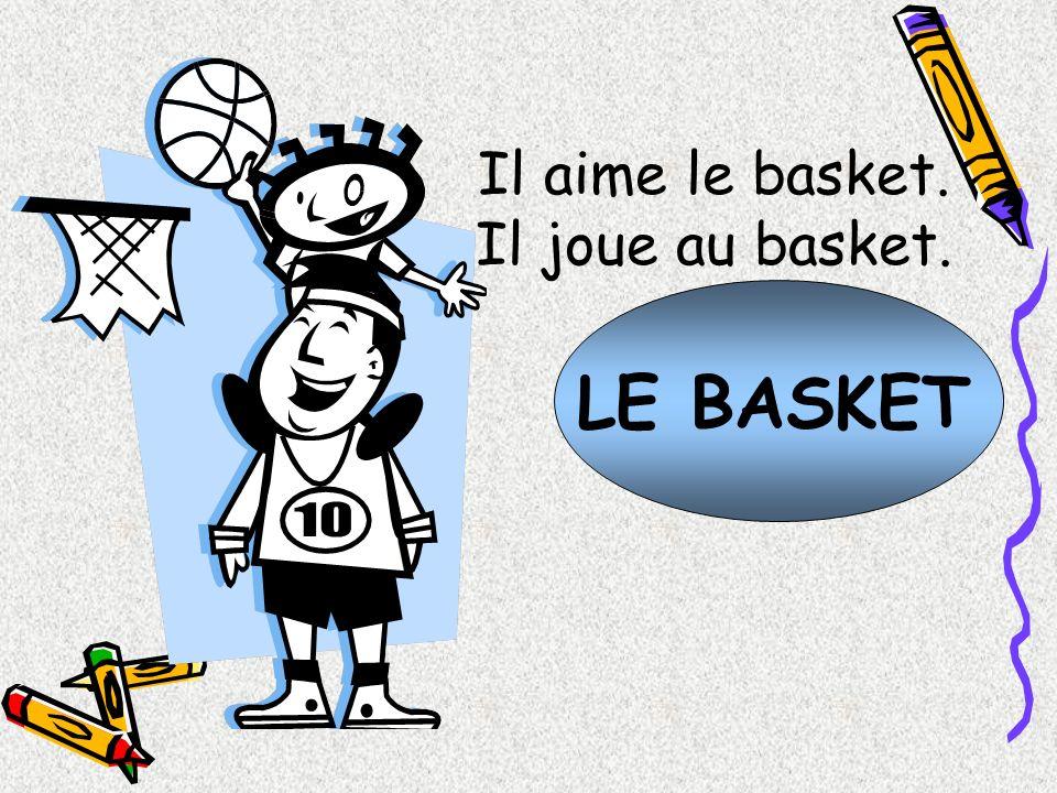 LE BASKET Il aime le basket. Il joue au basket.