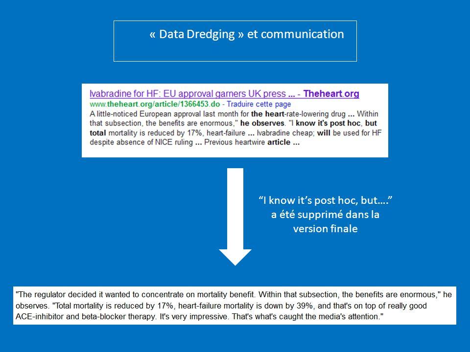 « Data Dredging » et communication I know its post hoc, but…. a été supprimé dans la version finale