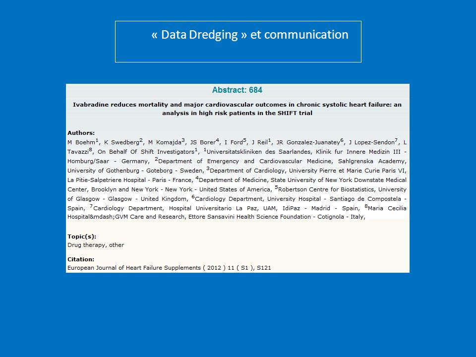 « Data Dredging » et communication