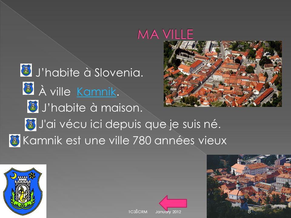 Jhabite à Slovenia.À ville Kamnik.Kamnik Jhabite à maison.