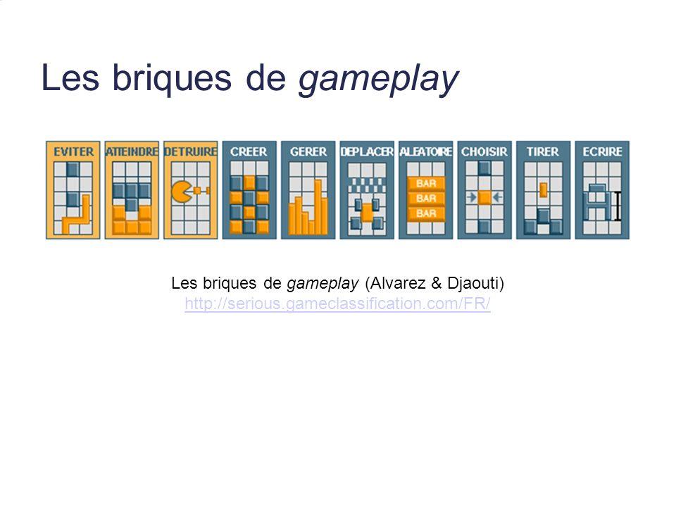 Les briques de gameplay Les briques de gameplay (Alvarez & Djaouti) http://serious.gameclassification.com/FR/