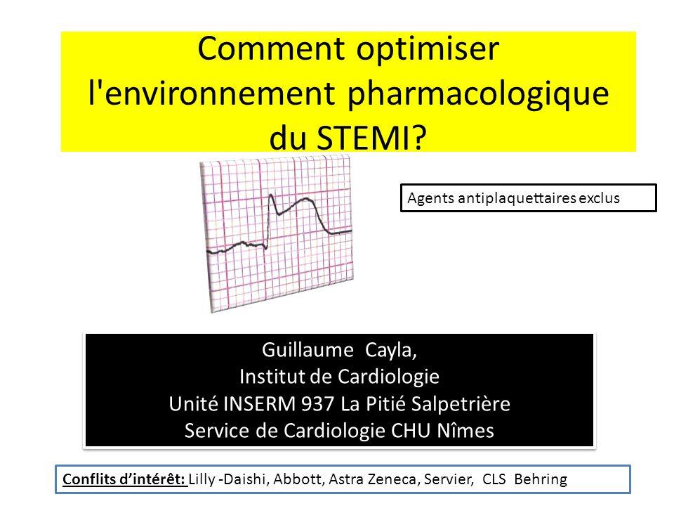 Comment optimiser l environnement pharmacologique du STEMI.