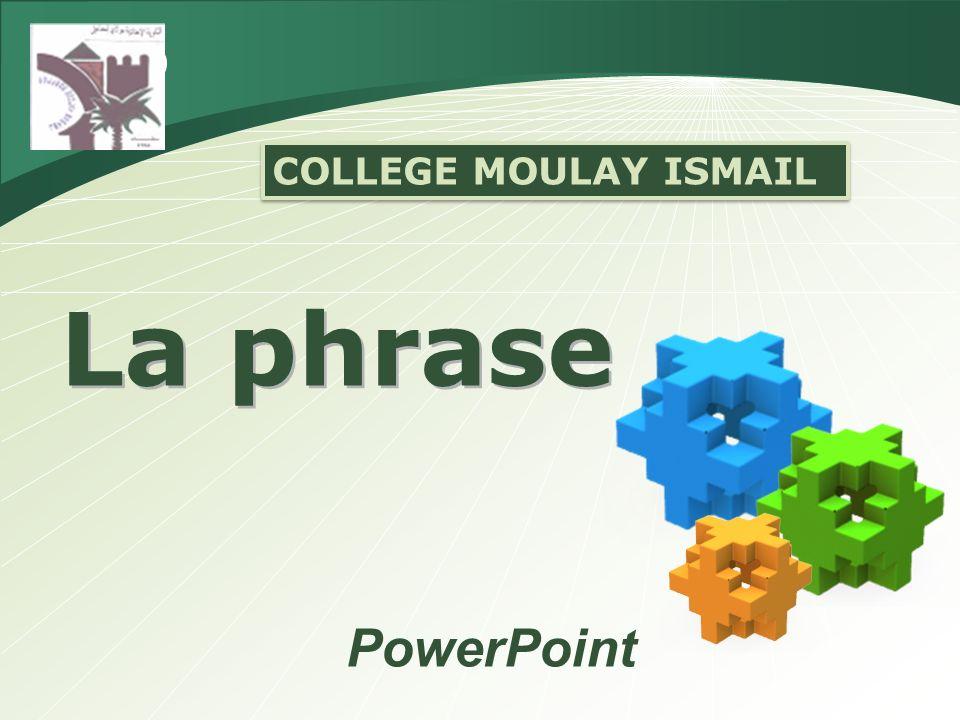 LES TYPES DE PHRASES 1.La forme affirmative. a) La phrase déclarative.