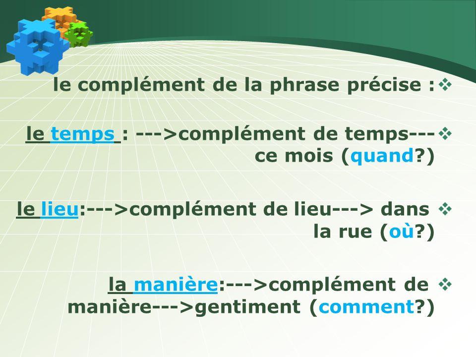 LES TYPES DE PHRASES c) La phrase exclamative négative.