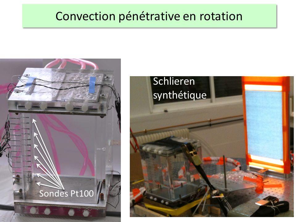 Schlieren synthétique Sondes Pt100