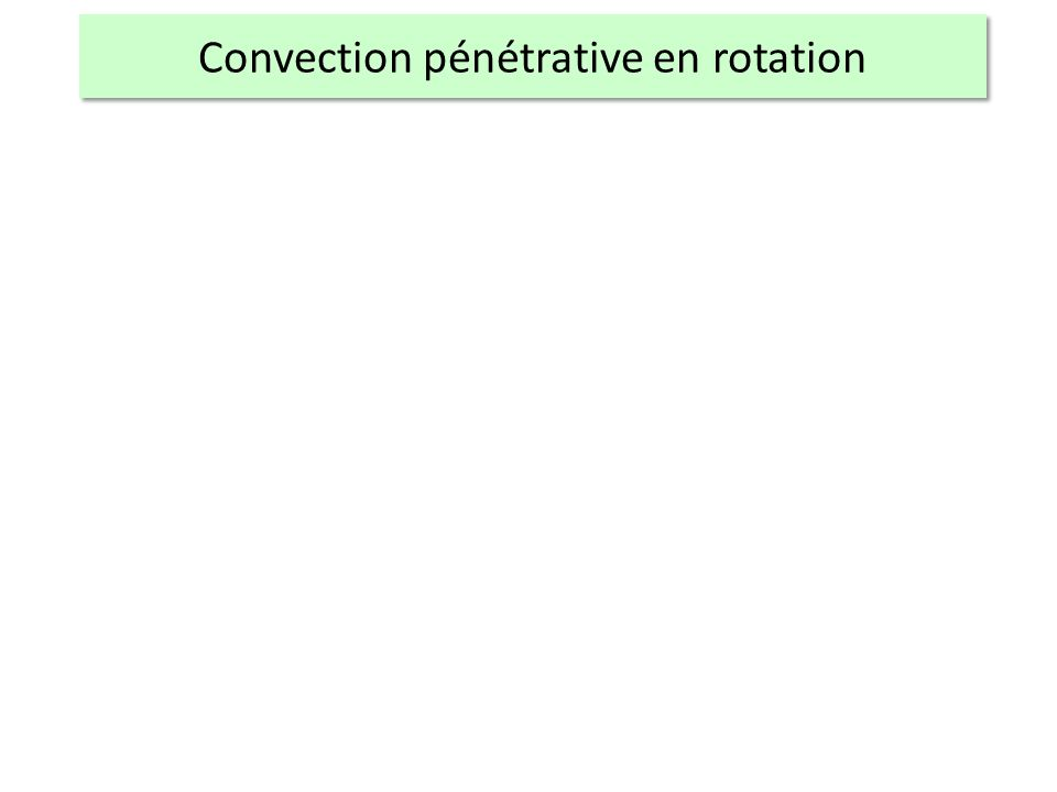 Convection pénétrative en rotation