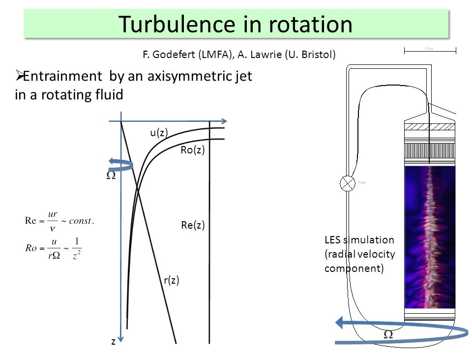 Turbulence in rotation F. Godefert (LMFA), A. Lawrie (U.