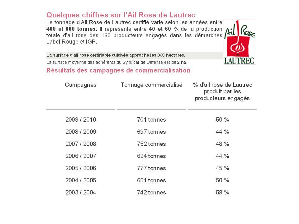 Projet Ail Résultats de recherches 2010- 2011