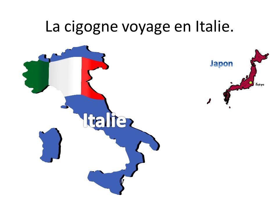La cigogne voyage en Italie.