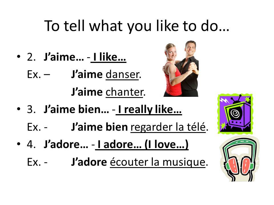 4. Jadore danser!