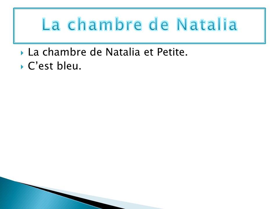 La chambre de Natalia et Petite. Cest bleu.