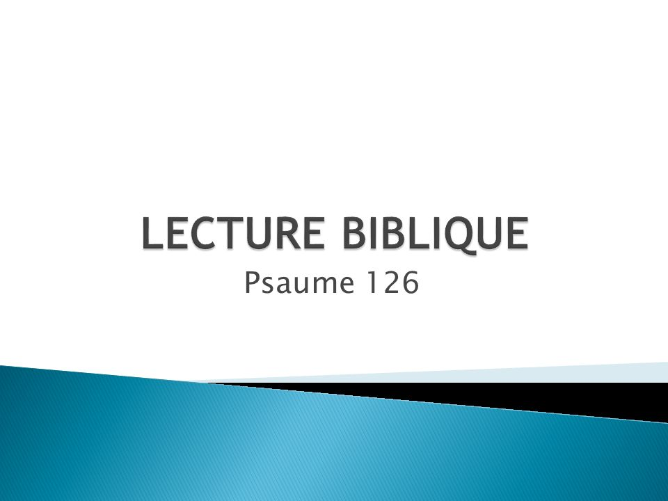 Psaume 126
